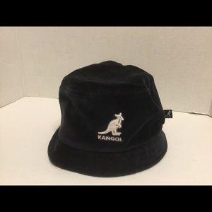 VTG KANGOL Velour Lahinch Black Bucket Hat  Sz Med